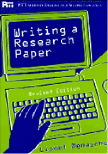 9780472083695: Writing a Research Paper, Rev. Ed. (Pitt Series in English as a Second Language)
