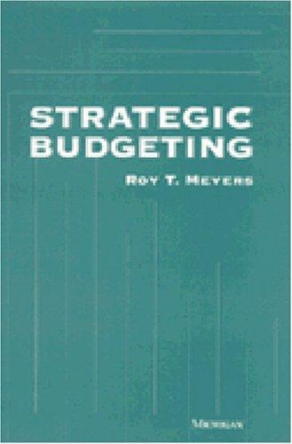 9780472084142: Strategic Budgeting