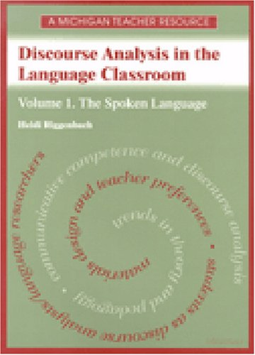9780472085415: Discourse Analysis in the Language Classroom: Volume 1. The Spoken Language