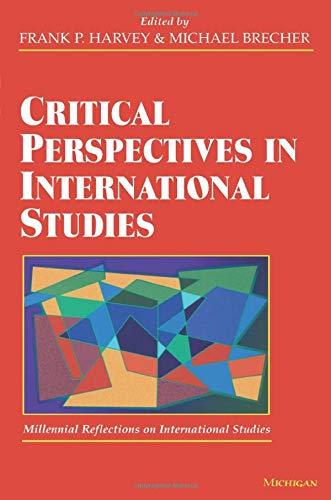 Critical Perspectives in International Studies (Paperback): Frank P. Harvey