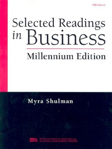 9780472088935: Selected Readings in Business, Millennium Edition (Michigan Series in English for Academic & Professional Purposes)