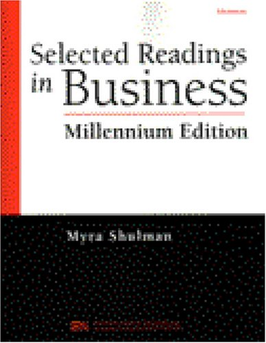 9780472088942: Selected Readings in Business, Millennium Edition TM (Michigan Series in English for Academic & Professional Purposes)