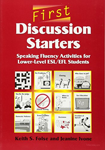 9780472088959: First Discussion Starters: Speaking Fluency Activities for Lower-Level ESL/EFL Students
