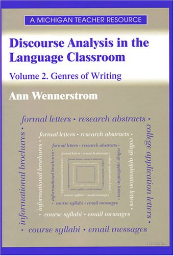 9780472089192: Discourse Analysis in the Language Classroom: Volume 2. Genres of Writing (Vol 2)