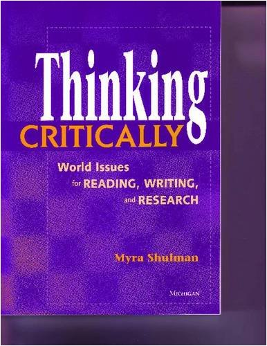 new directions reading writing and critical thinking New directions is a thematic writing-skills text that bridges the gap between esl and college writing courses new directions is a thematic reading/writing book aimed at the most advanced.