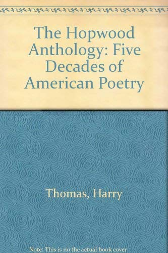 9780472093281: The Hopwood Anthology: Five Decades of American Poetry