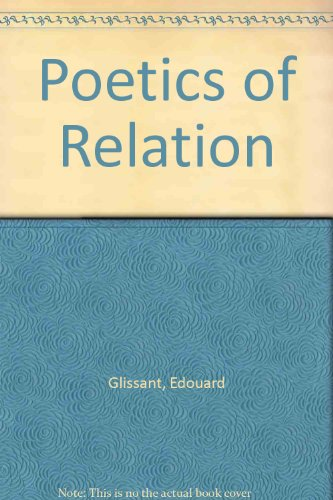 9780472096299: Poetics of Relation