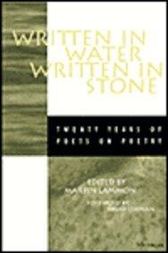 9780472096343: Written in Water, Written in Stone: Twenty Years of Poets on Poetry