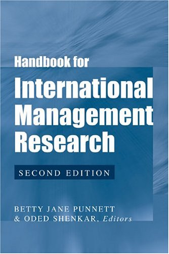 Handbook for International Management Research (Hardback)