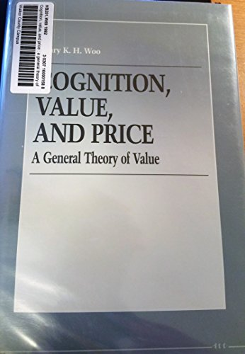9780472103317: Cognition, Value, and Price: A General Theory of Value