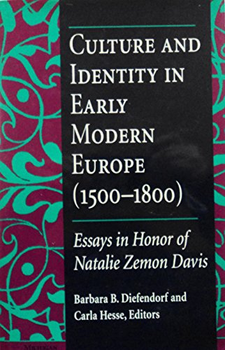 9780472104703: Culture and Identity in Early Modern Europe (1500-1800): Essays in Honor of Natalie Zemon Davis