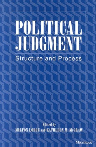 9780472105410: Political Judgment: Structure and Process