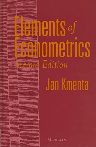 9780472108862: Elements of Econometrics: Second Edition