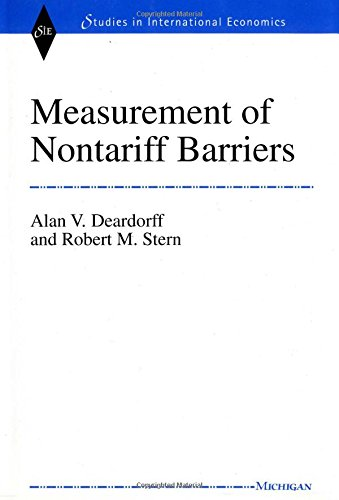 Measurement of Nontariff Barriers (Hardback): Alan V. Deardorff, Robert Mitchell Stern