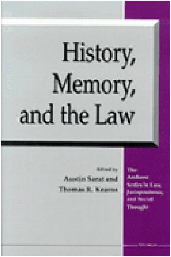 9780472110452: History, Memory, and the Law (The Amherst Series in Law, Jurisprudence, and Social Thought)