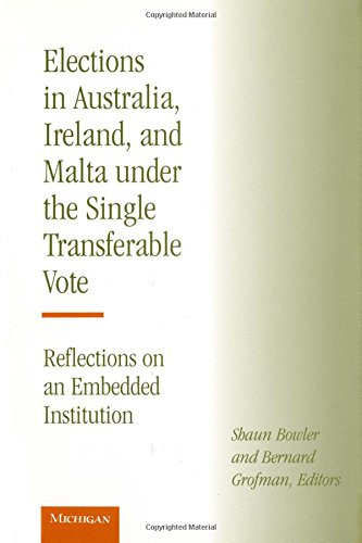 Elections in Australia, Ireland, and Malta under the Single Transferable Vote - Reflections on an ...
