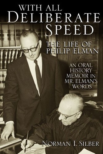 9780472114252: With All Deliberate Speed: The Life of Philip Elman
