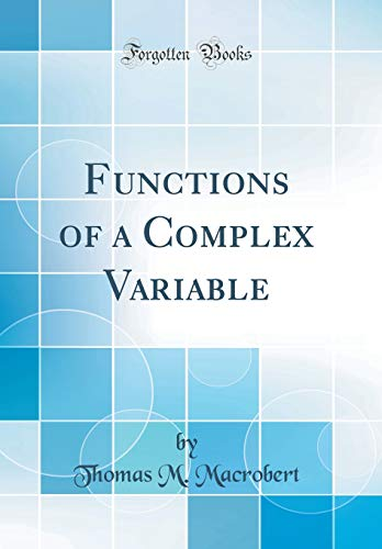 9780483500945: Functions of a Complex Variable (Classic Reprint)