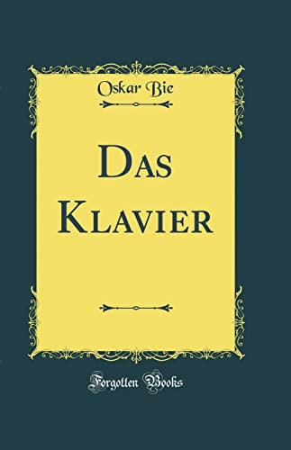 9780484273510: Das Klavier (Classic Reprint)