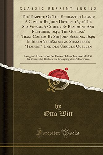 The Tempest, or the Enchanted Island; A: Otto Witt