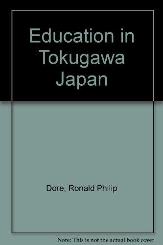 9780485112405: Education in Tokugawa Japan