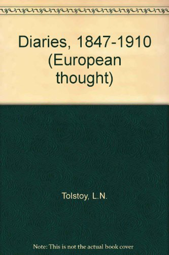 9780485112764: Tolstoy's Diaries (European thought)