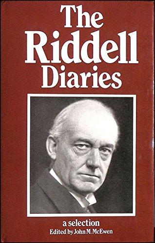 9780485113006: Riddell Diaries
