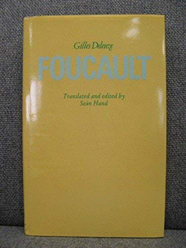 Foucault (Athlone Contemporary European Thinkers) (0485113457) by Deleuze, Gilles