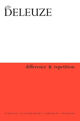 9780485113600: Difference and Repetition (Athlone Contemporary European Thinkers)