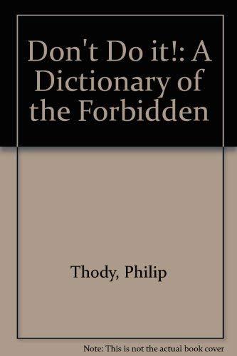 9780485114782: Taboos: A Short Dictionary of the Forbidden