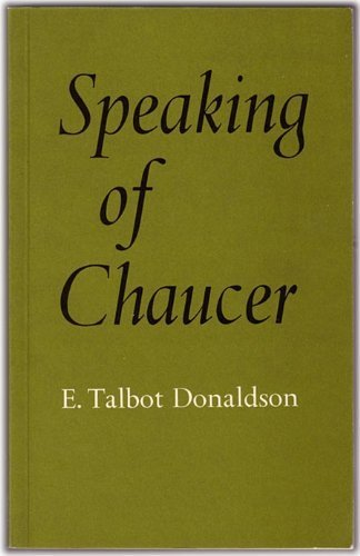 9780485120219: Speaking of Chaucer