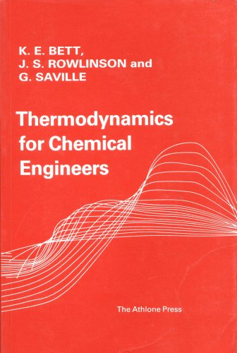 9780485120233: Thermodynamics for Chemical Engineers