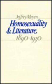 9780485120547: Homosexuality and Literature 1890-1930