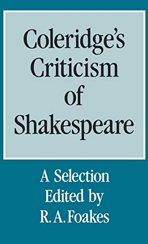 9780485120615: Coleridge's Criticism of Shakespeare: A Selection