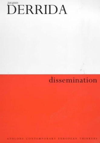 9780485120936: Dissemination (Athlone Contemporary European Thinkers)