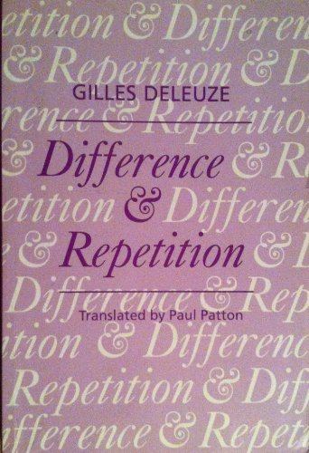 9780485121025: Difference and Repetition