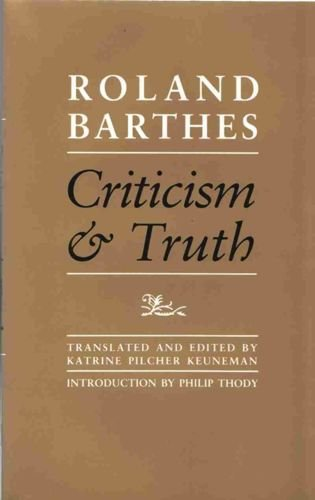 9780485121445: Criticism and Truth