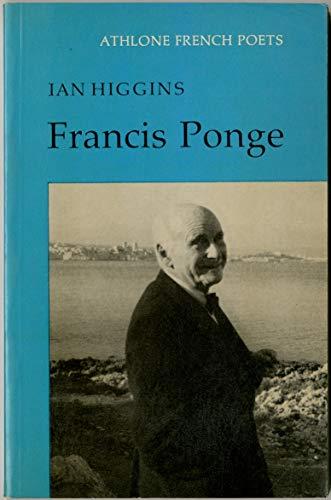 9780485122121: Francis Ponge (French Poets)