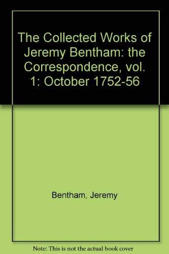 The Correspondence of Jeremy Bentham, Vol. 1: Jeremy Bentham, T.L.