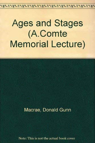 9780485191097: Ages and Stages (A.Comte Memorial Lecture)