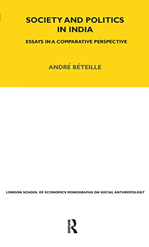 9780485195637: Society and Politics in India: Essays in a Comparative Perspective (LSE Monographs on Social Anthropology)
