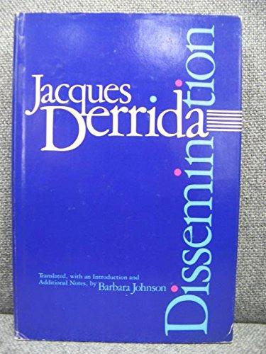 9780485300055: Dissemination (Bloomsbury Revelations)