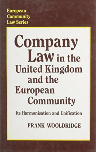 9780485700039: Company Law in United Kingdom and the European Community (European Community Law Series)