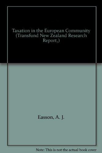 9780485700107: Taxation in the European Community (European Community Law Series)