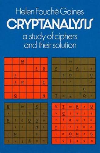 9780486200972: Cryptanalysis a Study of Ciphers and Their Solutions