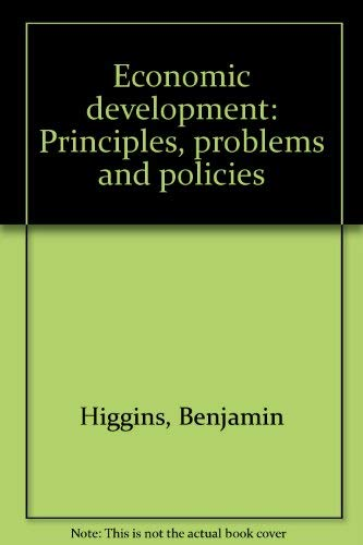 9780486201917: Economic Development Principles, Problems, and Policies