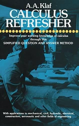9780486203706: Calculus Refresher (Dover Books on Mathematics)