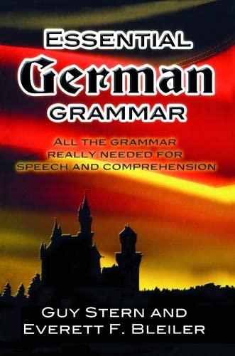 9780486204222: Essential German Grammar (Dover Language Guides Essential Grammar)