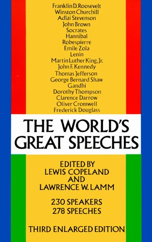 9780486204680: World's Great Speeches
