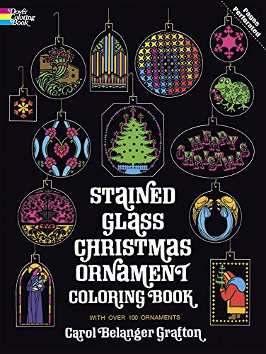9780486207070: Stained Glass Christmas Ornament Coloring Book (Holiday Stained Glass Coloring Book)